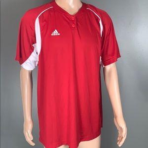 Adidas Mens Red Athletic TShirt SZ.L